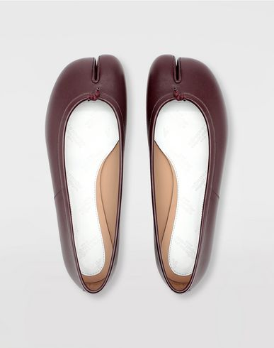 SHOES Tabi calfskin ballerinas Deep purple