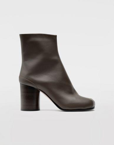 SHOES Tabi calfskin boots Khaki