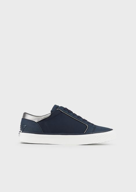 Sneakers con patch aquila sagomata