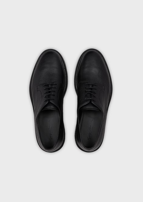 Deerskin Derby shoes with anatomic soles