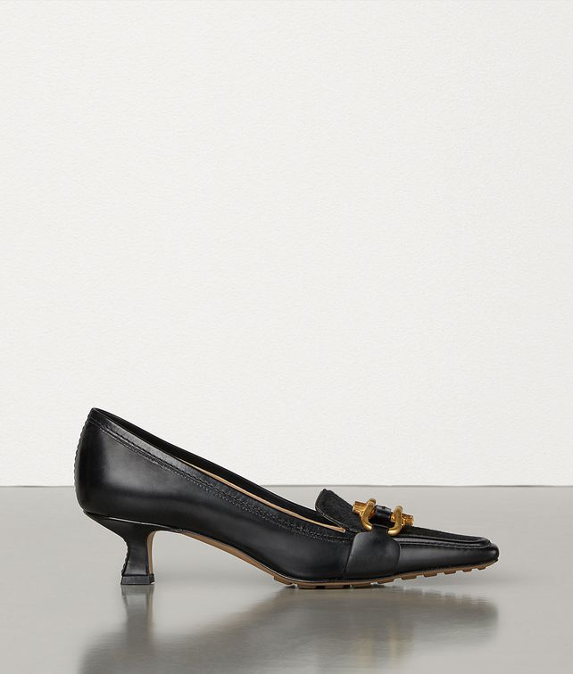 BOTTEGA VENETA BV MADAME IN SHINY CALF LEATHER AND PONY LUX Pump Woman fp