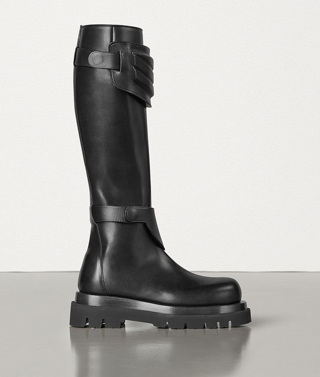 BOTTEGA VENETA KNEE BOOTS IN STORM CUIR Boots Woman fp