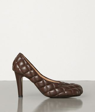 PADDED BLOC PUMPS IN MATELASSÉ NAPPA DREAM