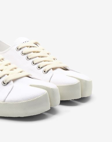 SHOES Tabi canvas sneakers White