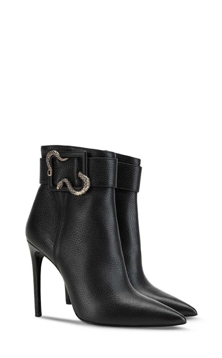 JUST CAVALLI Snake-buckle ankle boot Ankle boots Woman r