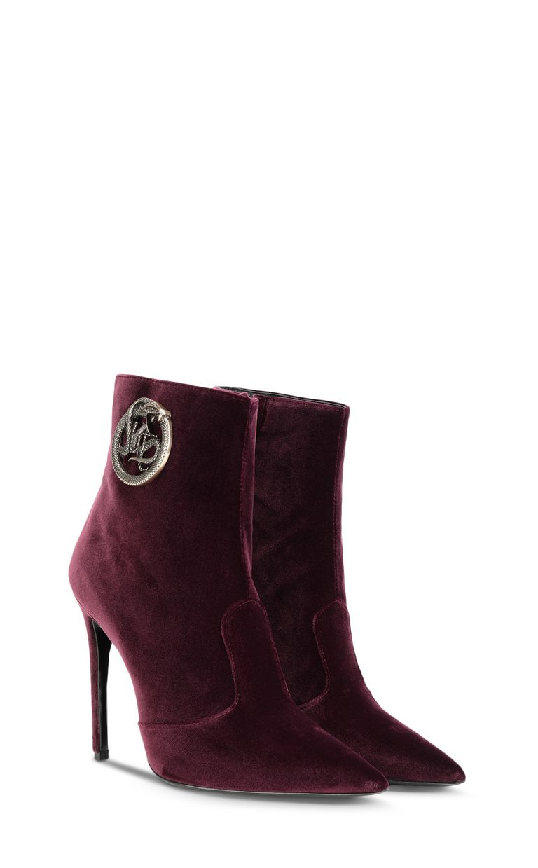 JUST CAVALLI Ankle boot with logoed buckle Ankle boots Woman r