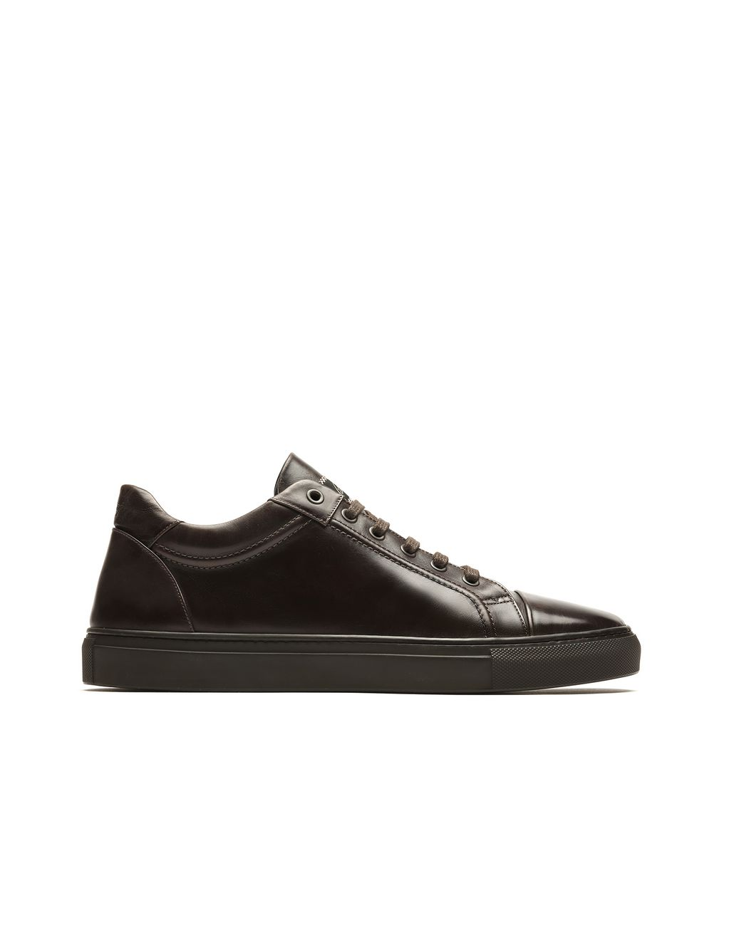 BRIONI Brown Leather Sneakers Sneakers Man f