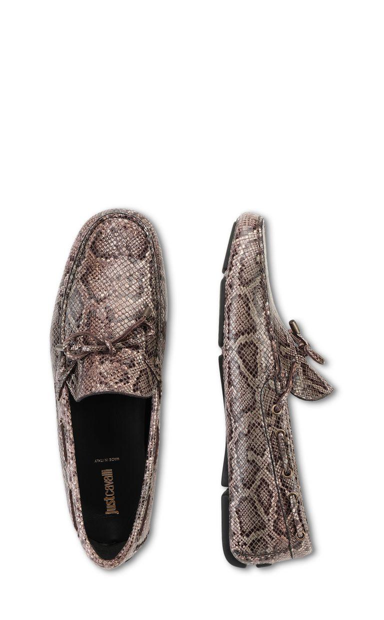 JUST CAVALLI Python-print loafer Moccassins Man d