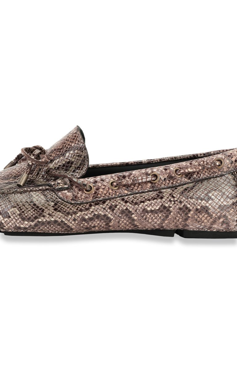 JUST CAVALLI Python-print loafer Moccassins Man e