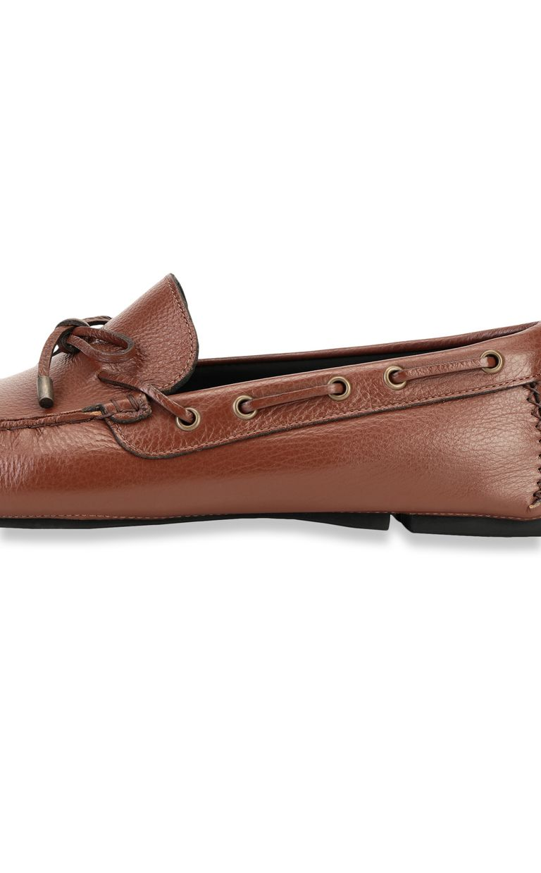 JUST CAVALLI Leather loafer Moccassins Man e