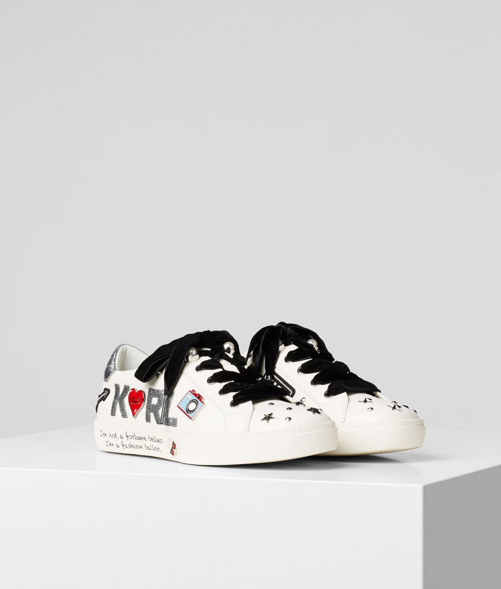 KARL LAGERFELD Skool Jewel Badge Sneaker Sneakers Woman f