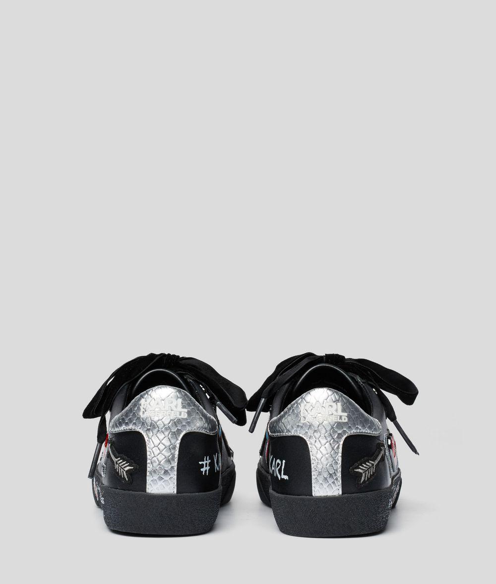 KARL LAGERFELD Skool Sneaker mit Applikationen und Ziersteinen Sneaker Damen d