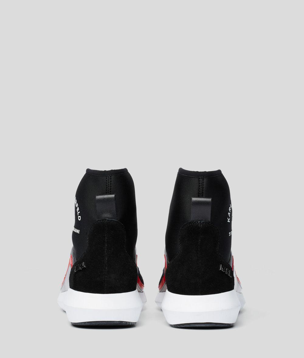 KARL LAGERFELD Vitesse Neo Sock Zipped Boot Sneakers Woman d