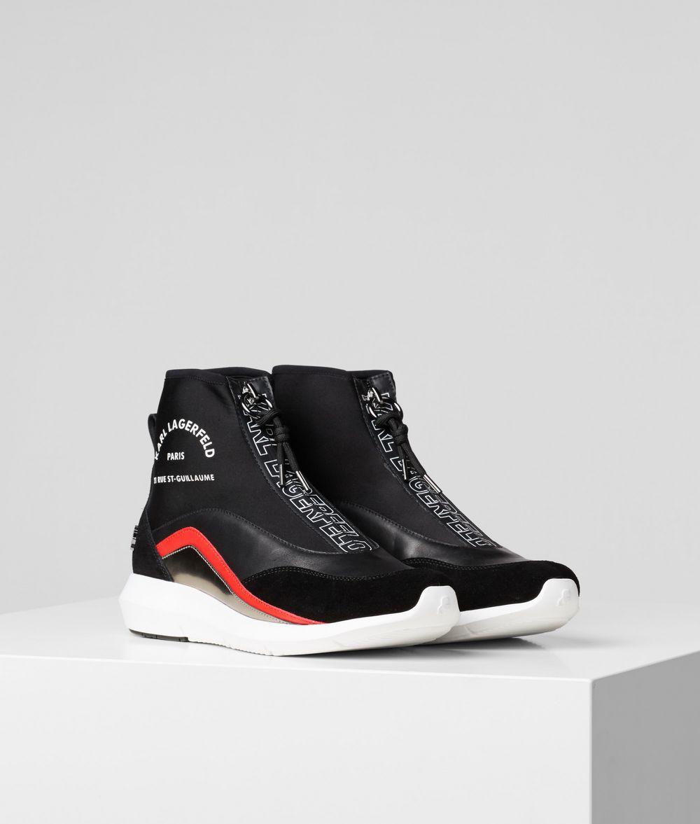 KARL LAGERFELD Vitesse Neo Sock Zipped Boot Sneakers Woman f
