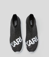 KARL LAGERFELD Vitesse Logo Knit Ankle Boot Sneakers Woman e