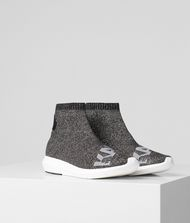 KARL LAGERFELD Vitesse Logo Knit Ankle Boot Sneakers Woman f