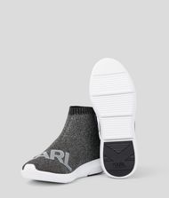 KARL LAGERFELD Vitesse Logo Knit Ankle Boot Sneakers Woman r