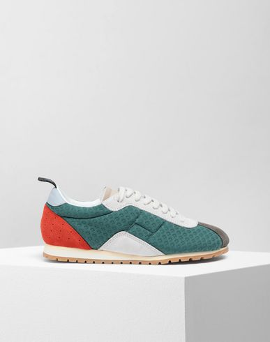 SHOES Pull-tab sneakers Dark green