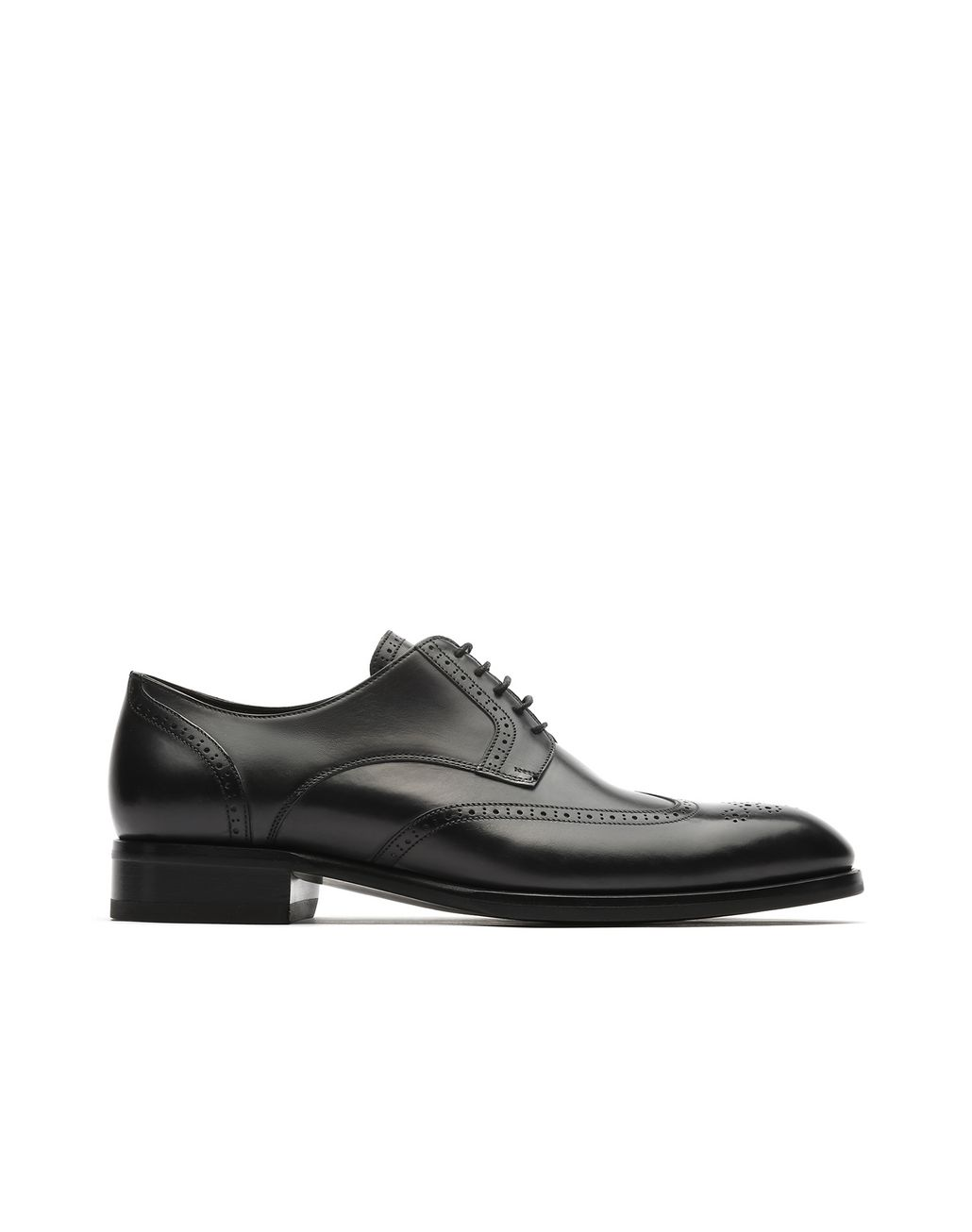 BRIONI Black Derby Brogue Formal shoes Man f