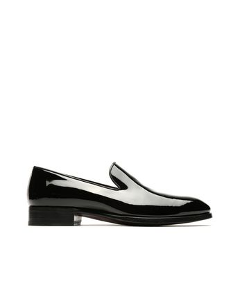 Black Wholecut Loafers