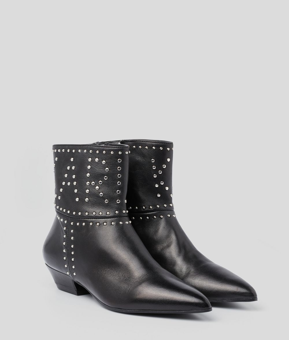 KARL LAGERFELD RIALTO STUD ANKLE BOOT Boots Woman d