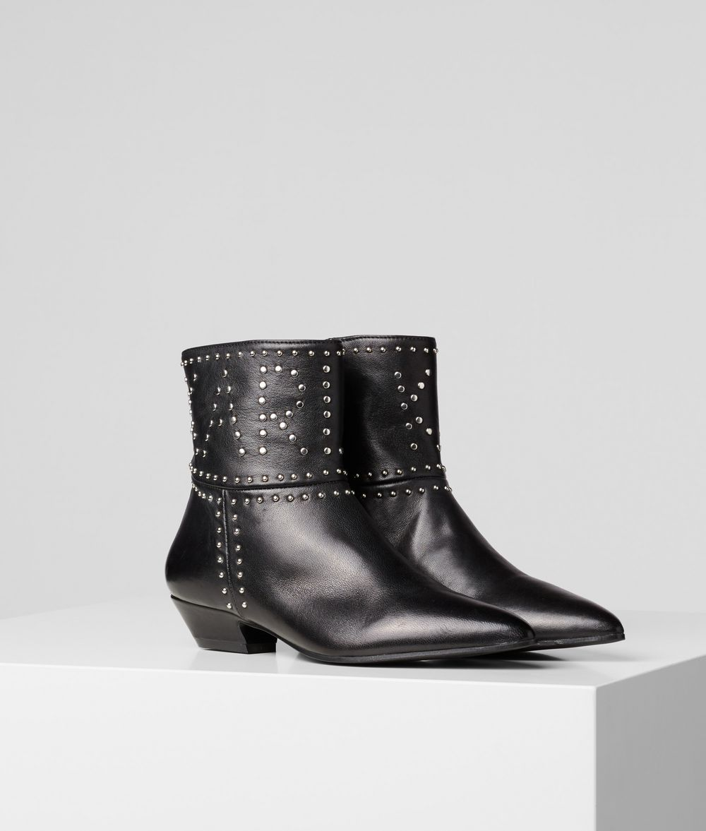 KARL LAGERFELD RIALTO STUD ANKLE BOOT Boots Woman f