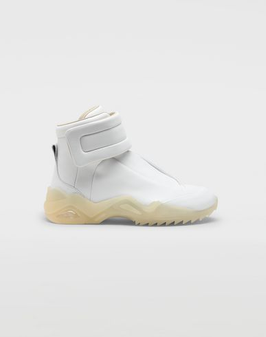 SHOES Future high-top leather sneakers White