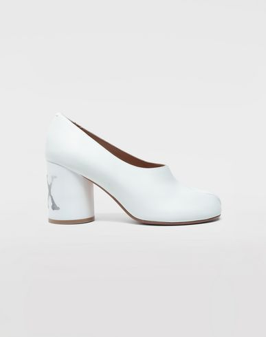 SHOES Tabi hologram pumps White