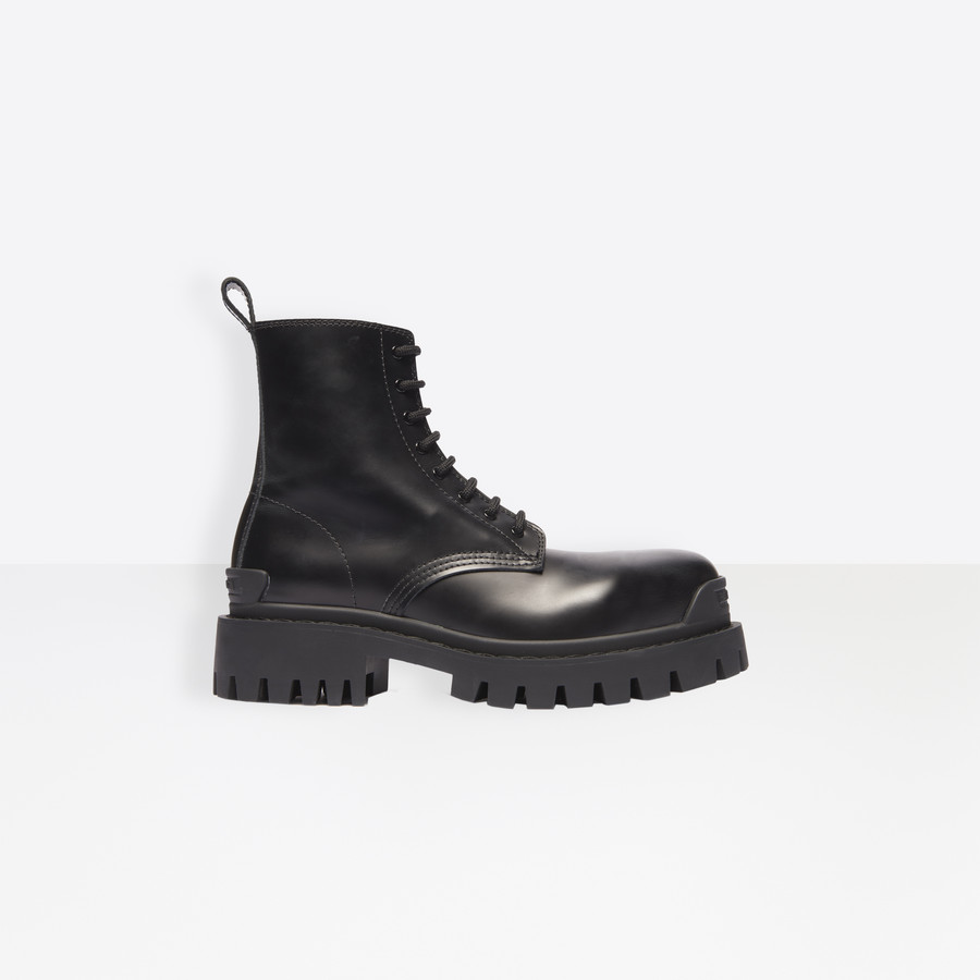 Strike Lace Up Boot Black for Women