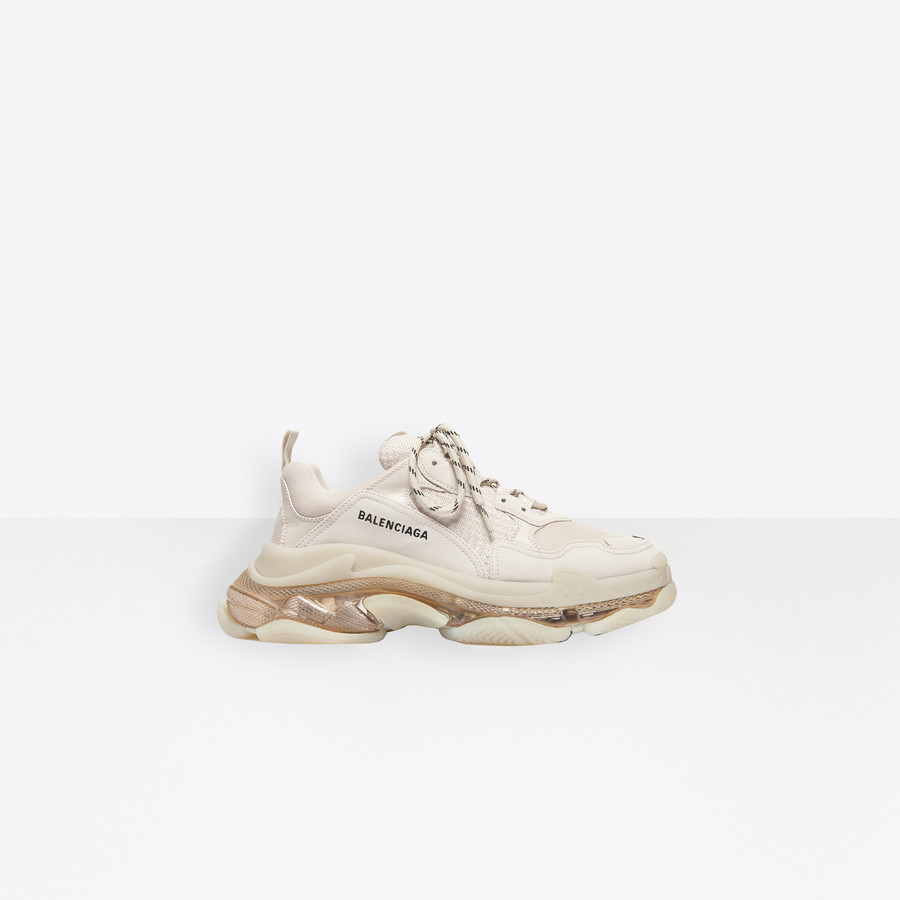 Triple S Clear Sole Sneaker Crystal for