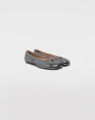 SHOES Tabi sequin ballerinas Silver