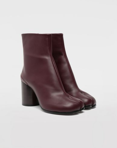 SHOES Tabi calfskin boots Deep purple