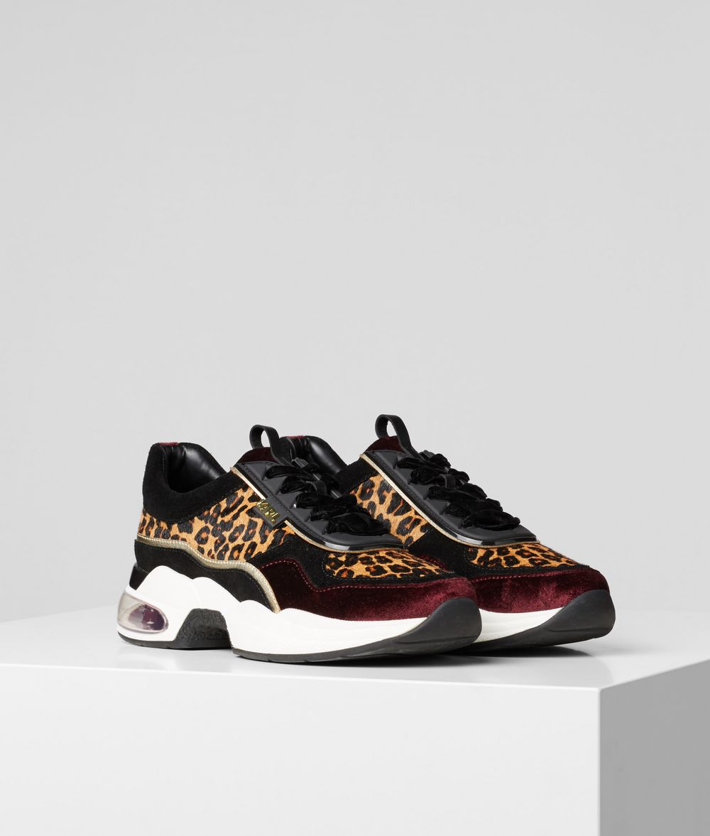 KARL LAGERFELD Ventura Lazare Leopard Runner Sneakers Woman f