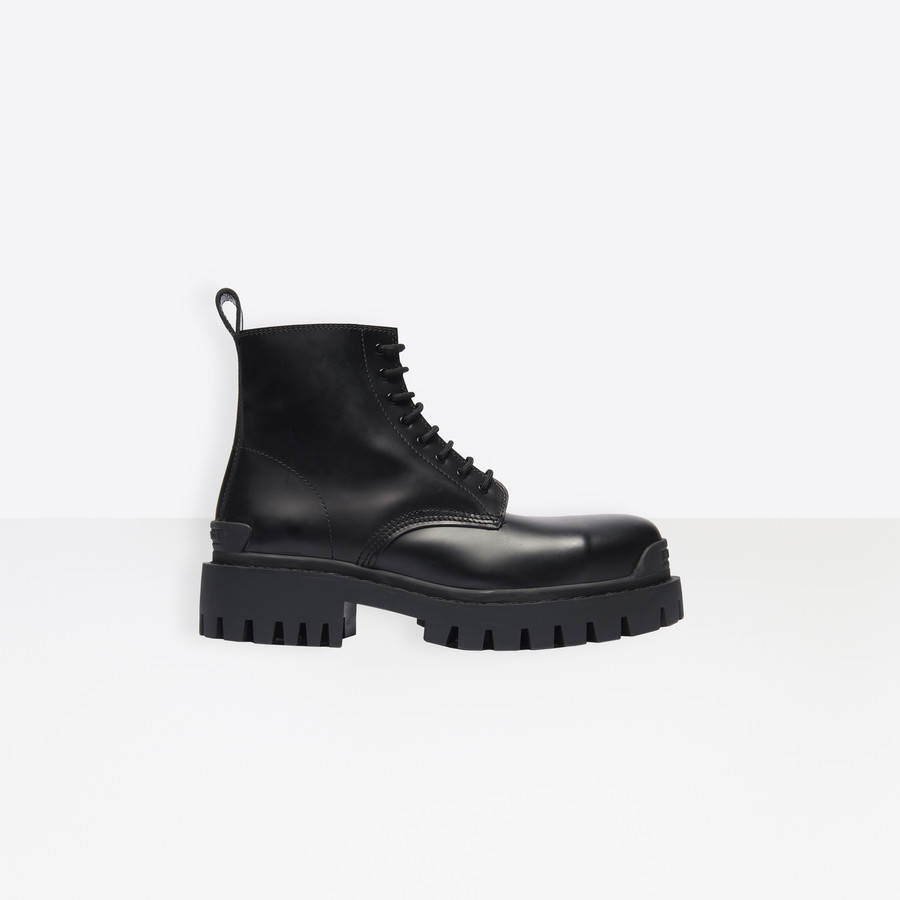 Strike Lace Up Boot Black for Men