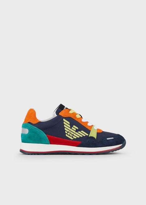 Multi-coloured suede sneakers