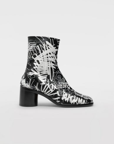 SHOES Graffiti Tabi boots Black