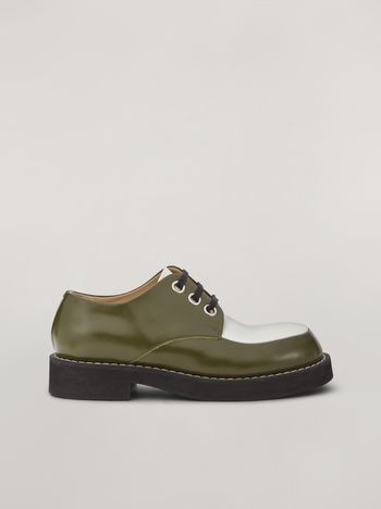 Marni Lace-up in bi-coloured calfskin Woman f