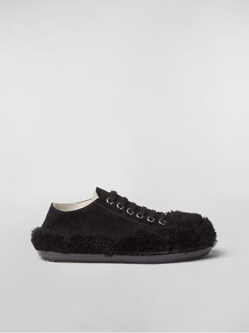 Marni CHINESE NEW YEAR 2020 Lace-up in suede and shearling Woman f