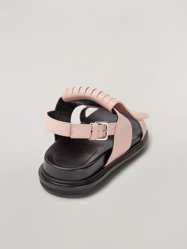 Marni Fringed fussbett in calfskin pink Woman - 5