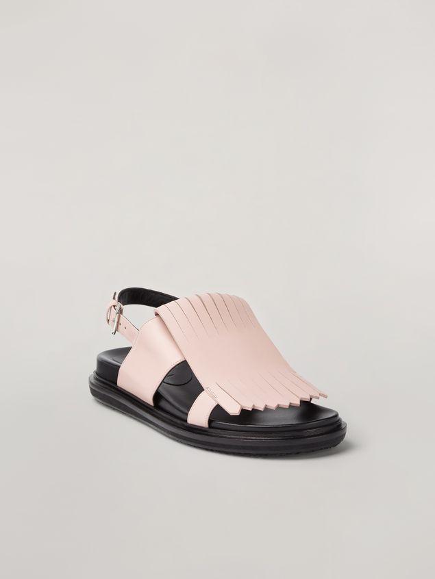 Marni Fringed fussbett in calfskin pink Woman - 2