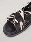 Marni Überkreuzte Fußbett-Sandale aus Kalbsleder in Ponyfell-Optik mit Zebraprint Damen - 5
