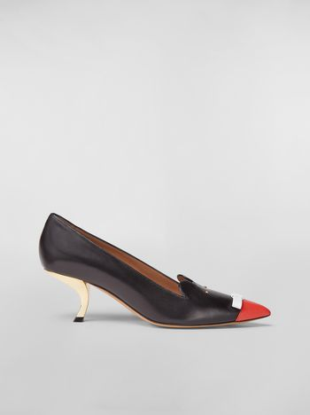 Marni CHINESE NEW YEAR 2020 rat Zodiac sign-inspired pump in nappa leather Woman f