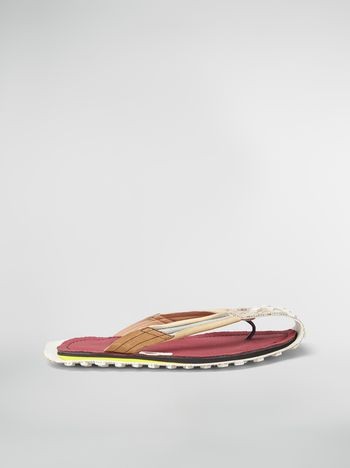 Marni Sandal in nylon and suede Man f