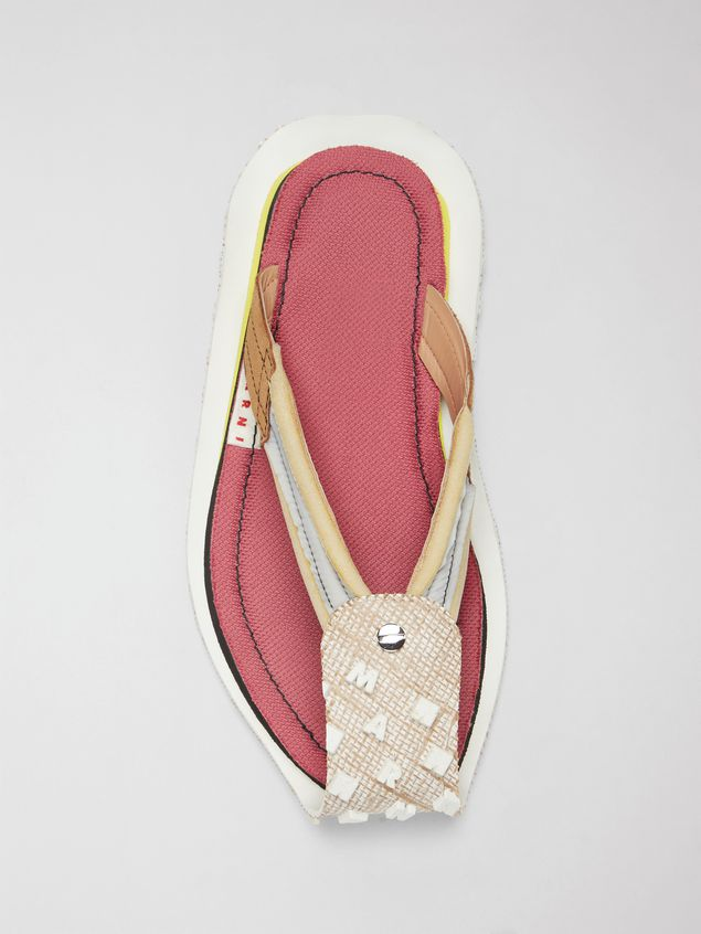 Marni Sandal in nylon and suede Man - 4