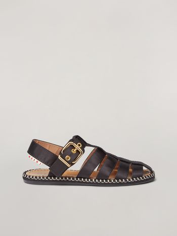 Marni Espadrillas sandal in satin black Woman f