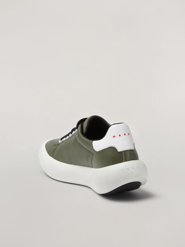 Marni BANANA Marni sneaker in leather green and white Woman