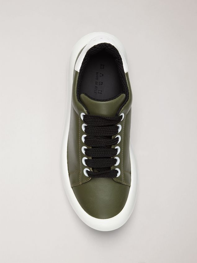 Marni BANANA Marni sneaker in leather green and white Woman - 4