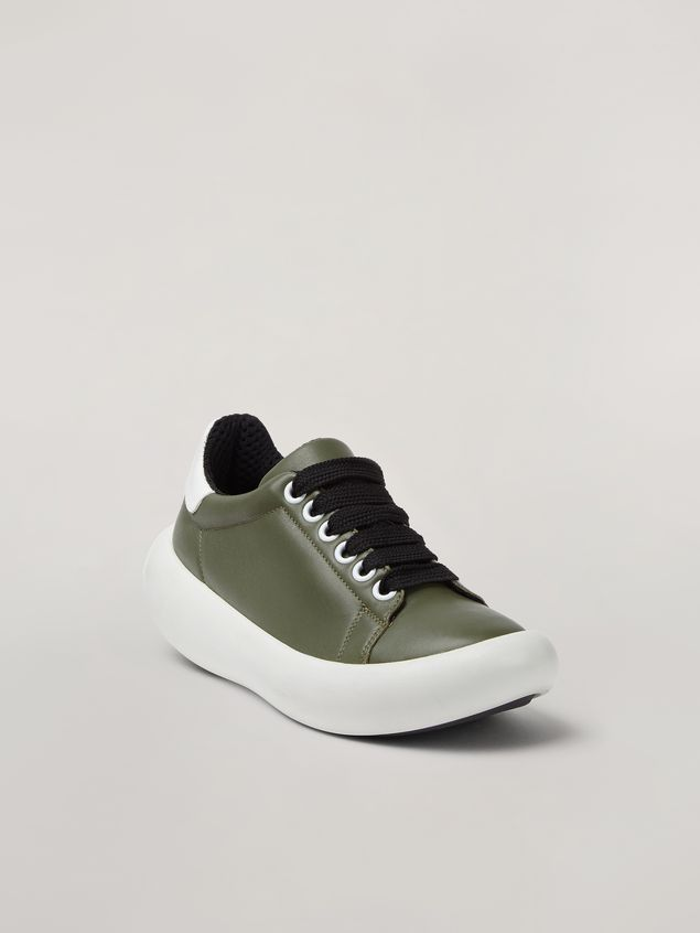 Marni BANANA Marni sneaker in leather green and white Woman - 2