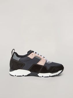 Marni Sneaker in techno fabric pink grey and black Woman
