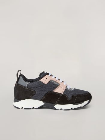 Marni Sneaker in techno fabric pink grey and black Woman f